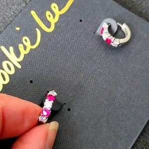 Cookie Lee hoop red earrings